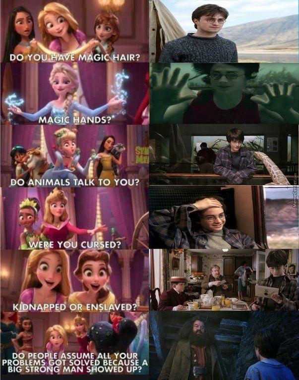 You're a princess Harry