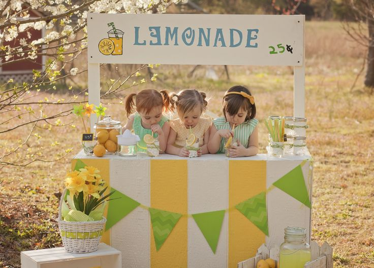 Lemonade stand photography