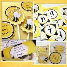 Baby Shower Funny Bumble Bee Themed For