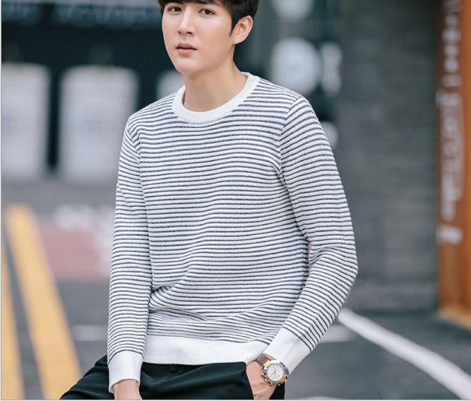 Qiu Dong Men Sweater Long-Sleeved Round Collar Render Unlined Upper Garment