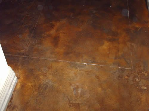 Acid stained concrete floor no more grout to clean for How to clean acid stain floors
