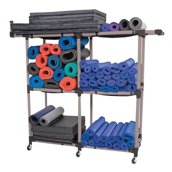 Multi Purpose Storage Rack Organize And Store Your Mats Other Fitness Equipment Large