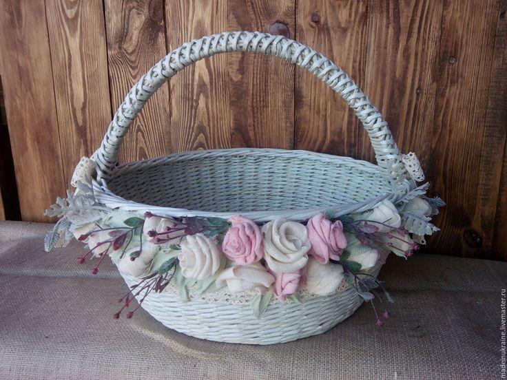 Купить Большая плетеная корзина - подарок, подарки ручной работы, шкатулки, короб для хранения, корзина