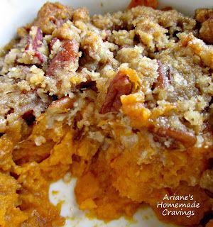RUTH'S CHRIS SWEET POTATO CASSEROLE (copycat recipe) from Ariane's Homemade Cravings | arianeshomemadecravings.blogspot.com