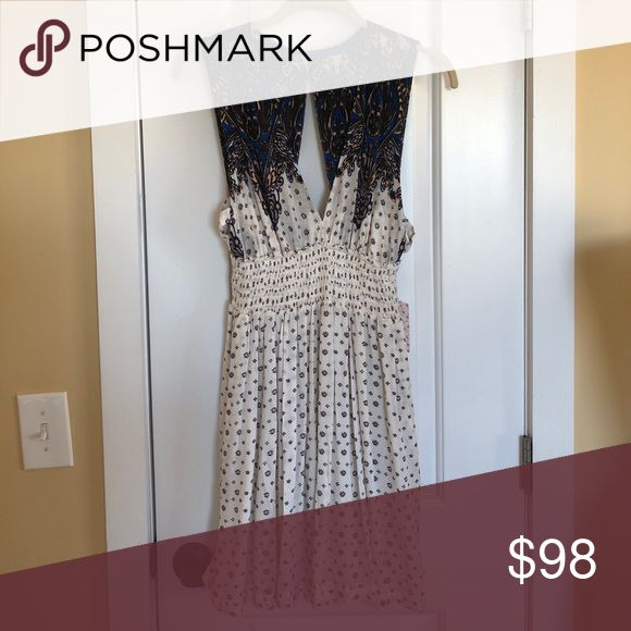 NTW FREE PEOPLE IVORY COMBO DRESS More pictures coming soon! Free People Dresses Mini