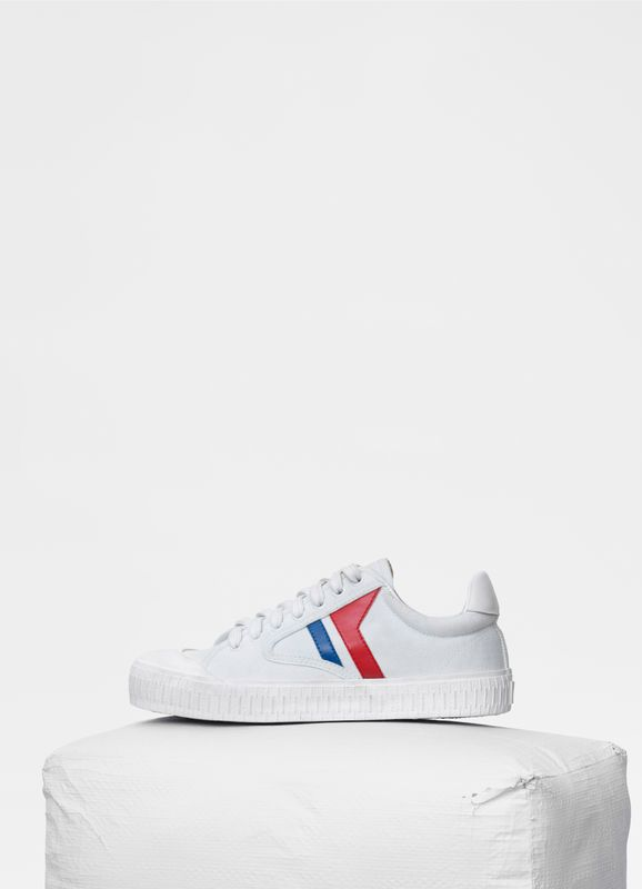 ea8f7361be6658 Plimsole Lace Up Sneaker in canvas