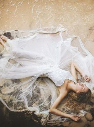 ocean wedding dress by FORAVRA