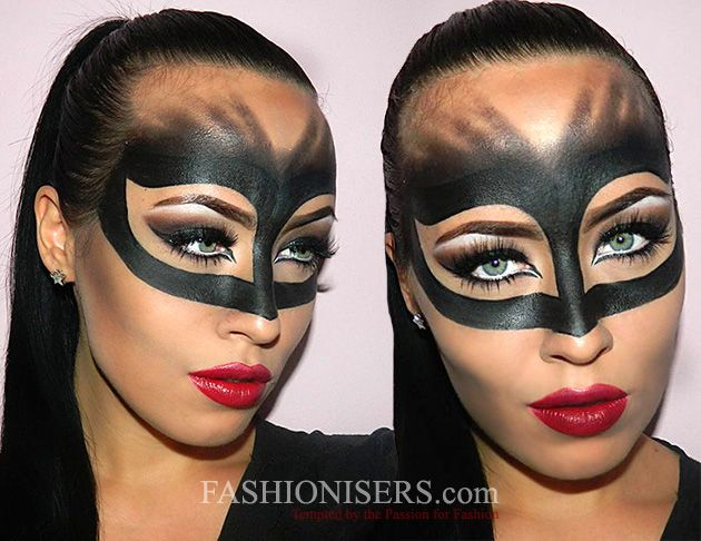Catwoman Makeup Tutorial for Halloween  #makeup #Halloween #Halloweenmakeup