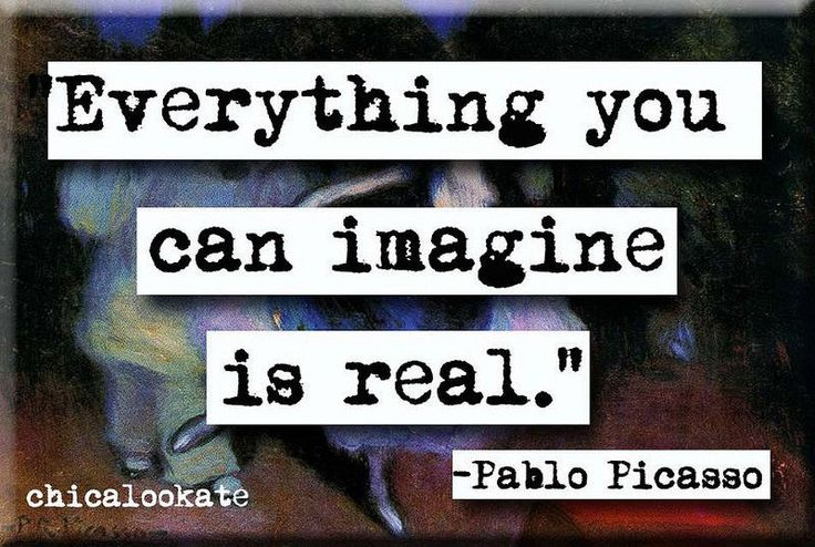 Pablo Picasso Imagine Quote Refrigerator Magnet or Pocket Mirror (no.598)