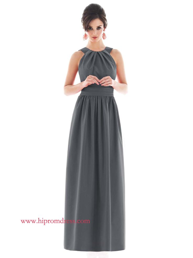 pewter-a-line-jewel-and-sleeveless-lace-up-floor-length-bridesmaid-dresses-with-twist-draped-prom00613.jpg 1,200×1,600 pixels