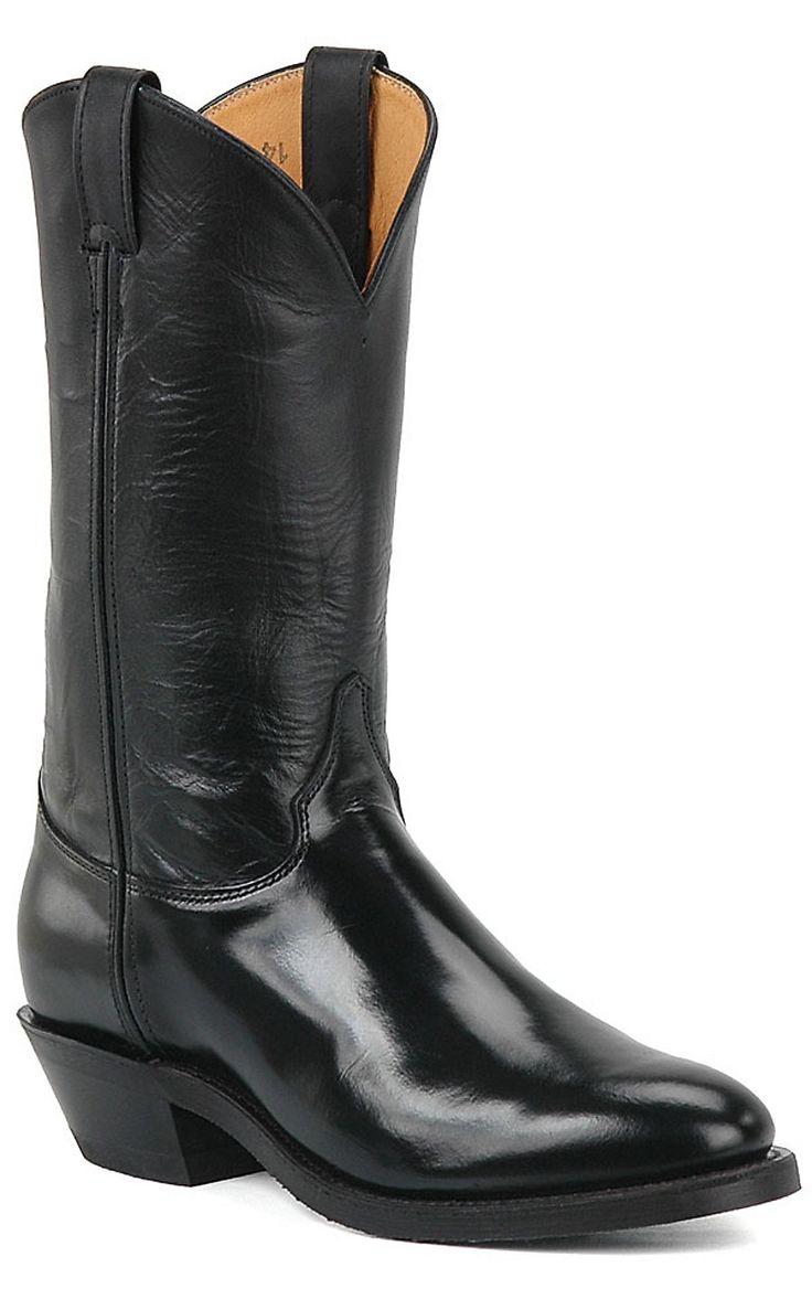 Justin® Mens Pilot Cowboy Uniform Boots - Black