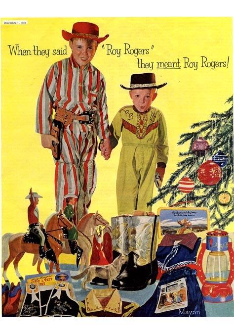 1956 Roy Rogers. Voor de kleine mannen. Geweldige poster!