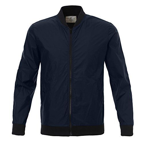 Majeclo Men's Quilted Bomber Jacket (U.S. X-Large, Dark N... http://a.co/fDEIQsV