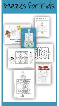 A selection of free printable mazes for kids. Many more free printable kindergarten worksheets on this site.