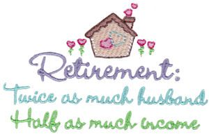 Bunnycup Embroidery: From Retirement Sentiments set