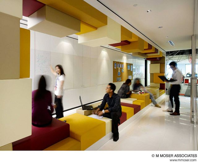 Creative office design by M Moser Associates by M Moser Associates | Interior Design Architecture, via Flickr