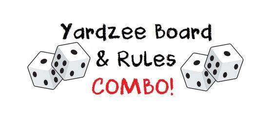Sale PRINTABLE. Yardzee Score Card WITH by AbsoluteImagination