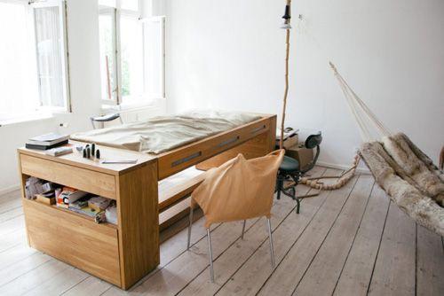 Schreibtisch-Bett _ Desk and bed in one by Mira Schröder