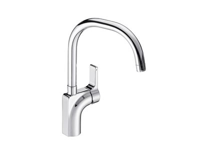 Singulier® Kitchen Mixer    Features:    Swivel spout easily reaches over 2 sinks  Water conserving detent valve  Metal body construction  Suitable for mains pressure  KOHLER finishes resist tarnishing and corrosion  Ceramic disc valve