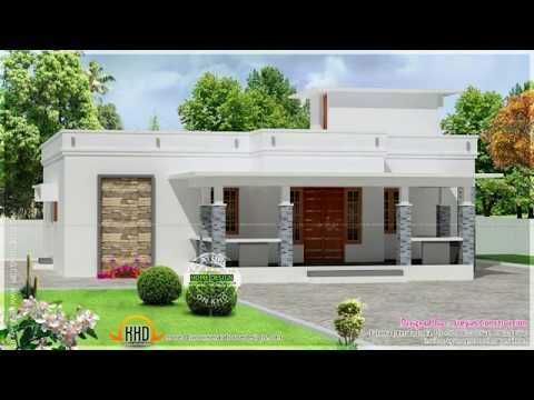 Kerala Style 4 Bedroom House Plans Single Floor Youtube Small House Exteriors Beautiful