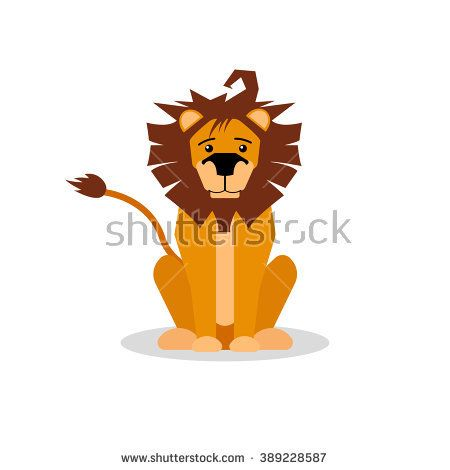 stock-vector-a-cartoon-vector-illustration-of-a-friendly-lion-sitting-and-forward-facing-lion-character-389228587.jpg (450×470)