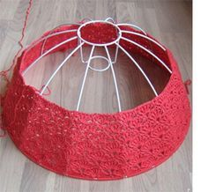 7 best lamparas images on pinterest lamp shades lampshades and wire frame lampshade crocheted wshell pattern keyboard keysfo Gallery
