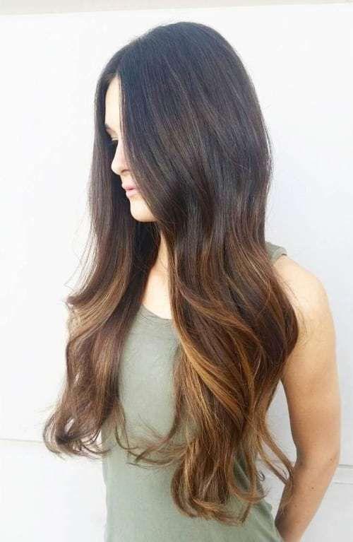 long+dark+brown+hair+with+balayage+highlights