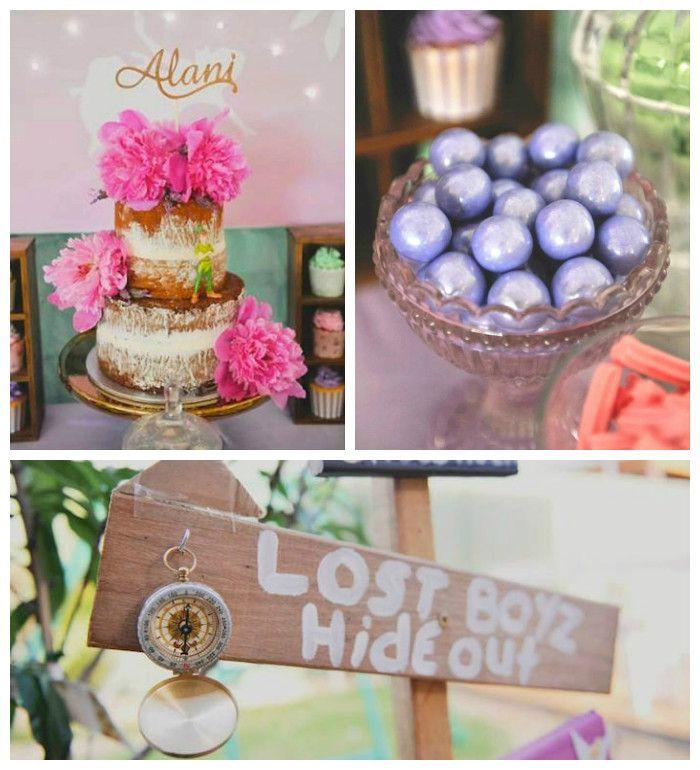 Neverland Themed Fairy Birthday Party via Kara's Party Ideas