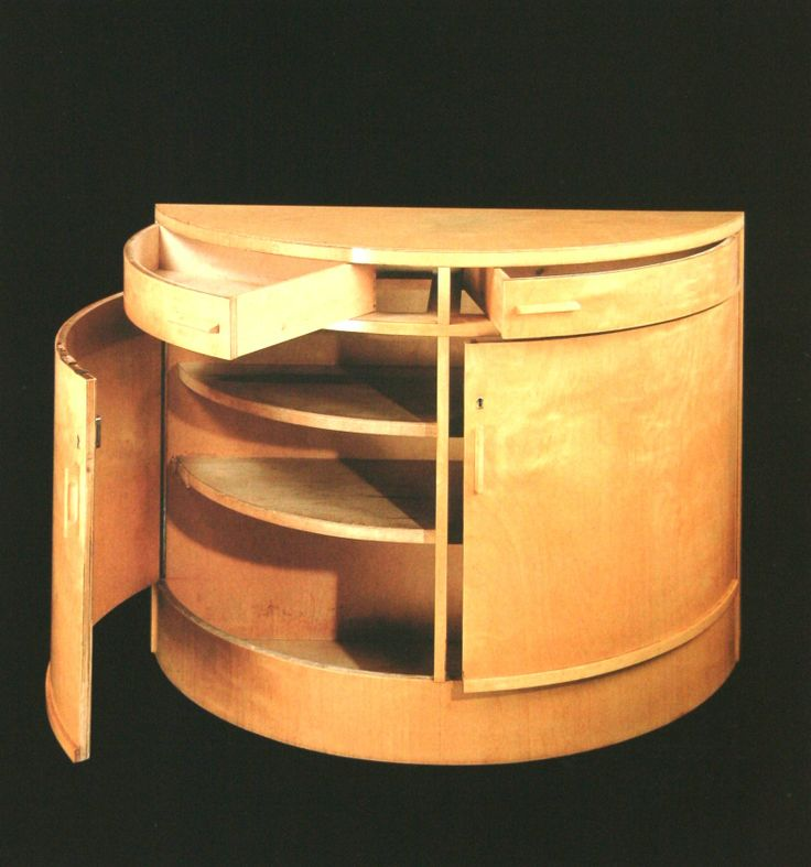 Alvar Aalto Rounded cupboard in birch, after 1935