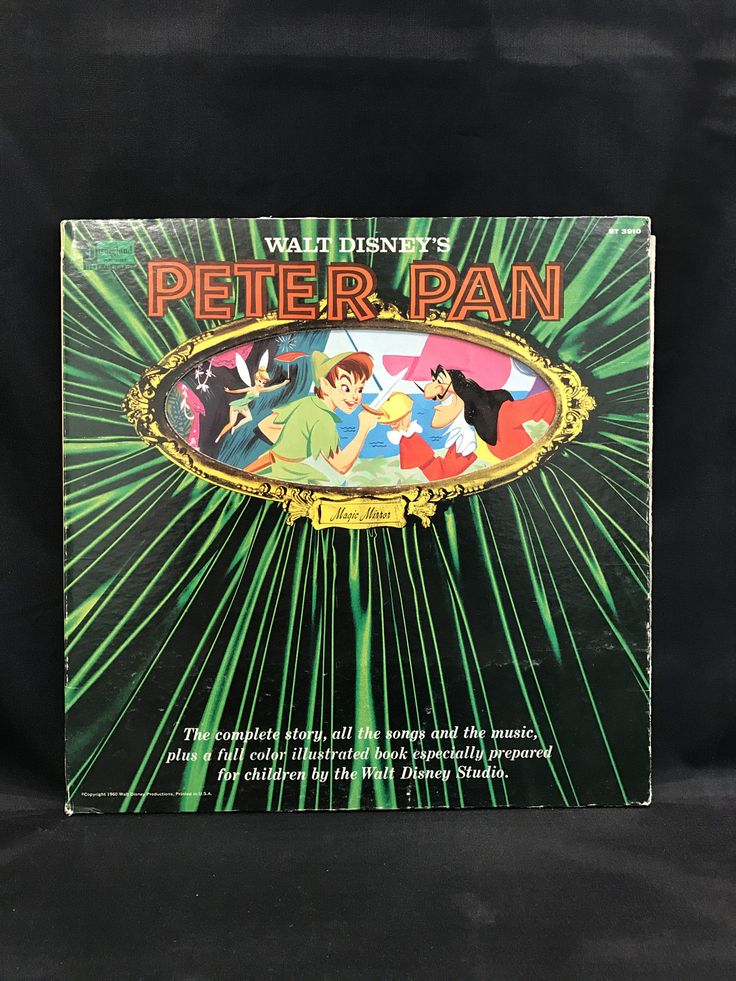 PETER PAN RECORD, Peter Pan Illustrated Story, Peter Pan recording, Walt Disney Peter Pan record, Disneyland Record, Peter Pan soundtrack by TheJellyJar on Etsy