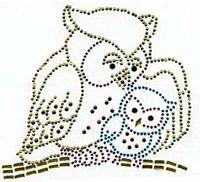 2 owls hotfix rhinestone template
