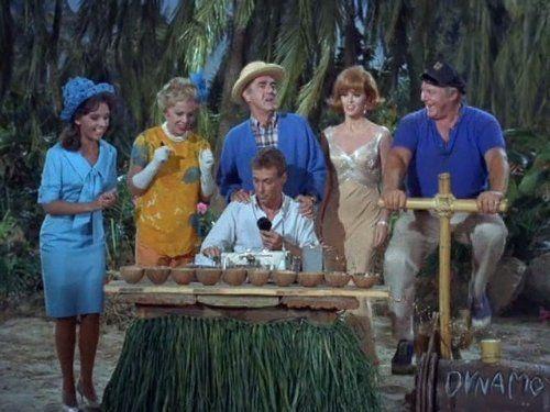 Jim Backus, Alan Hale Jr., Tina Louise, Russell Johnson, Natalie Schafer, and Dawn Wells in Gilligan's Island (1964)