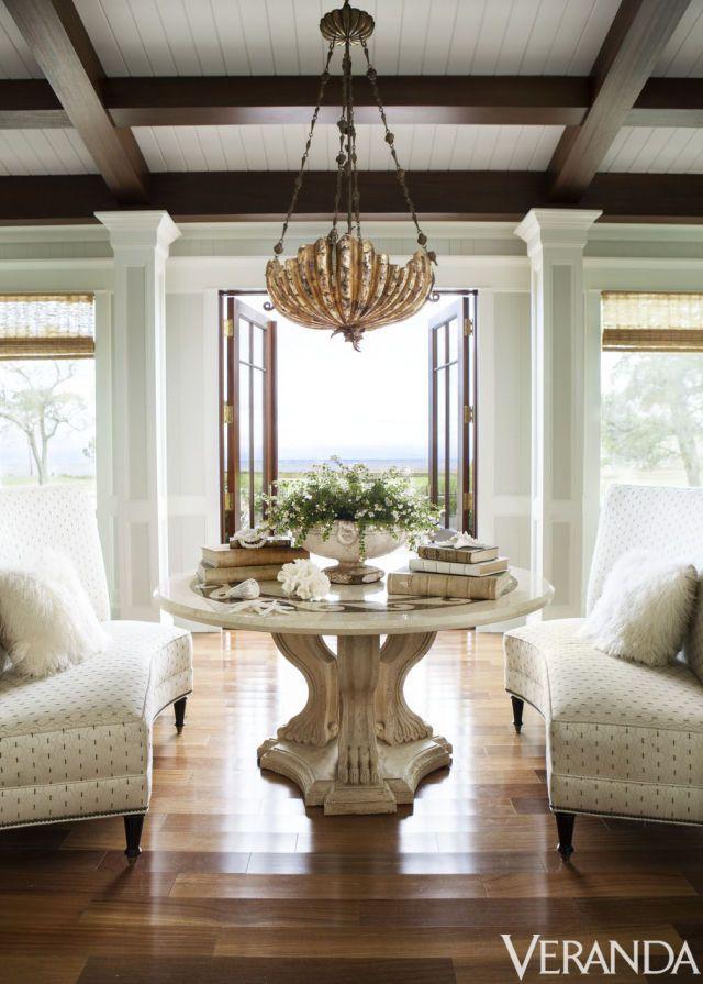 Table, Kreiss collection; chandelier, Maitland- Smith through Lovelace Interiors.   - Veranda.com