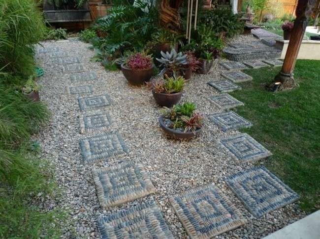 Abbellire giardino fai da te come abbellire un giardino for Sassi per fioriere