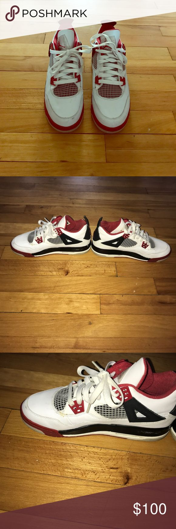 Retro 4 Spike Lee Edition Jordan Worn Youth Jordan's with new shoe strings Jordan Shoes Sneakers