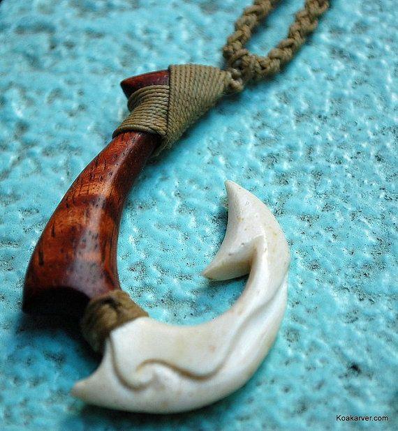 Pinterest the world s catalog of ideas for Hawaiian fish hook necklace