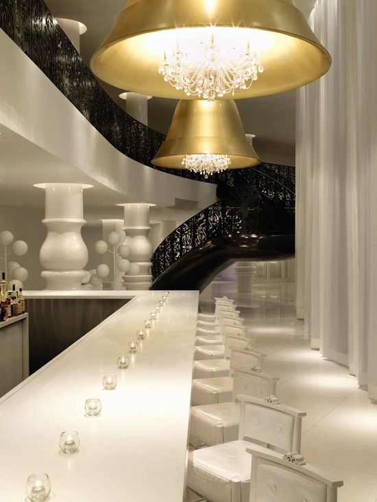 Dutch design. Awesome. The Mondrian Hotel, Miami, designed by Marcel Wanders.  Surreal but calm, love it,