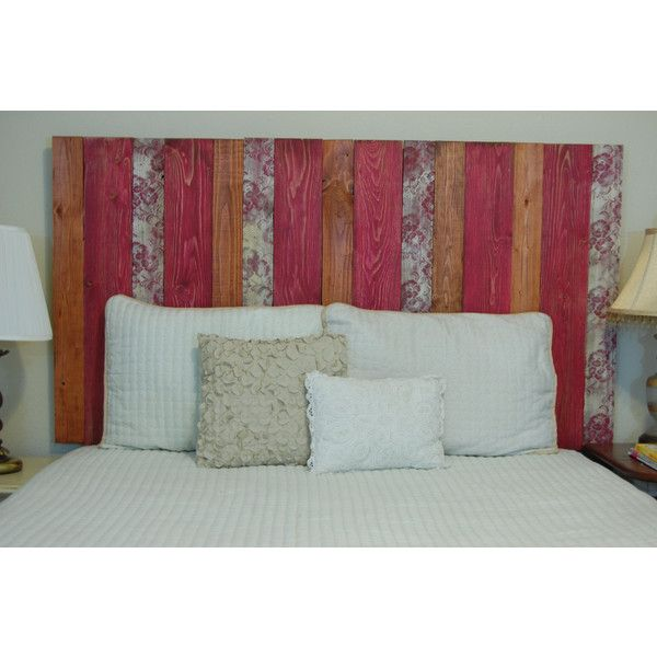 Hanger King Cal King Headboard Spring Mix Color Made With 4 Barn Walls... ($148) ❤ liked on Polyvore featuring home, furniture, beds, bedroom furniture, beds & headboards, black, home & living, california king size bed, cal king bed and california king bed