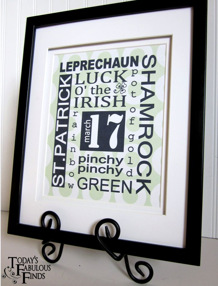 Today s fabulous finds st patricks day subway art prints
