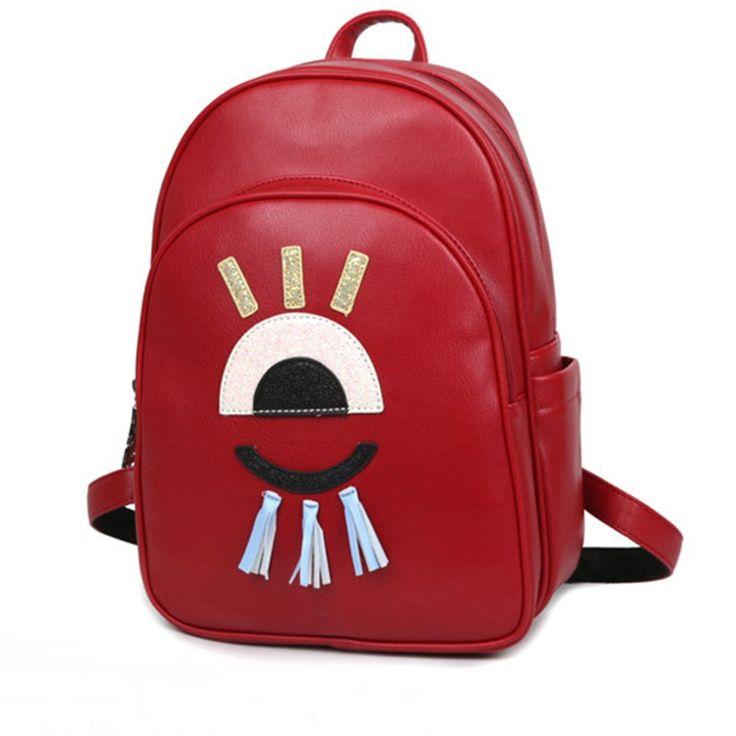 Women Leather Backpacks Brand Designer Embroidery Tassels Back Pack For Girls Female Shoulder Bags 2016 New High Quality Mochila  #backpack #fashion #WomenWallets #bagshop #highschool #Happy4Sales #bag #handbags #kids #L09582 #shoulderbags #YLEY  #NewArrivals