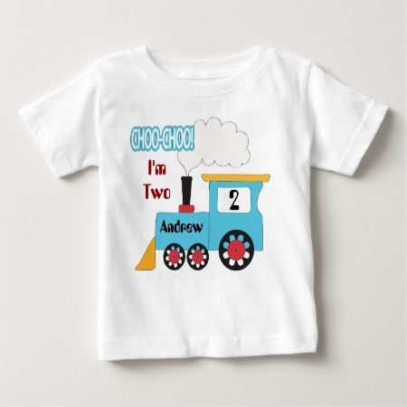 Choo Choo Train Birthday Shirt - tap to personalize and get yours