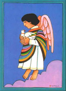 Hispanic Child Spirit by Tomie dePaola, Greeting card by Bridge Building Images