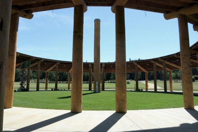 Casino revenues have helped the Grand Ronde rebuild on their reservation in Grand Ronde, Ore. A new pow-wow arbor is set to be complete in July 2015.