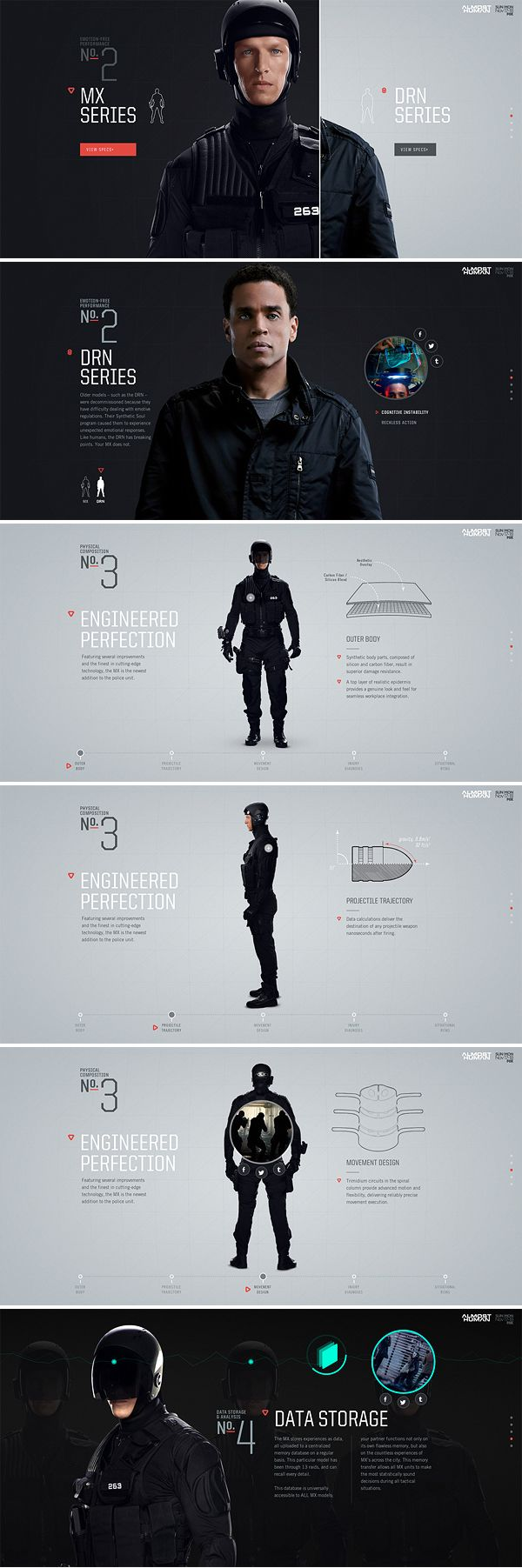 Almost Human: Meet Your MX Site by Watson, via Behance