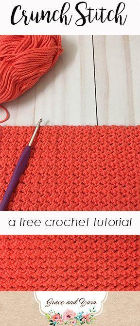 Crunch Stitch Crochet Tutorial