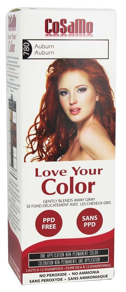 CoSaMo - Love Your Color Non Permanent Hair Color 780 Auburn - 3 oz NEW PACKAGING Like Clairol , L'Oreal , Garnier , John Frieda , Nice n Easy , Revlon haircolor ... No PPD or No Ammonia ! Paraben FREE ! PPD FREE ! No Peroxide ! Peroxide Free ! -1 RATED BEST HAIR COLOR ! Most Popular Haircolor ! MADE IN USA >>> Click image for more details.