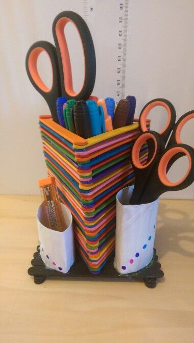 Triangle paddlepop stick stationary holder