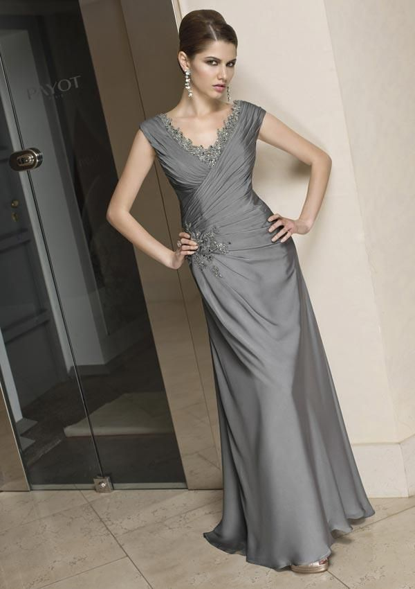 Mother of the Bride Dresses | ... Length Embroidery Sheath Chiffon Mother of the Bride Dress | PRLog