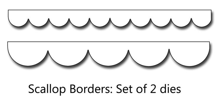 9 Best Images of Printable Template For Scalloped Border