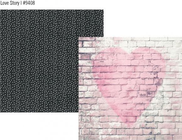 Romance double sided 12x12 cardstock - Love Story